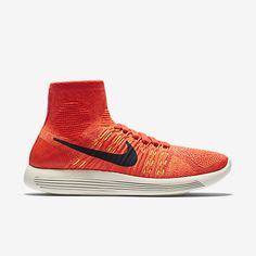 info for f091f 7e891 Chaussure de running Nike pas cher LunarEpic Flyknit pour Femme Cramoisi  brillant Hyper orange . Nike Flyknit Lunar 3Nike ...