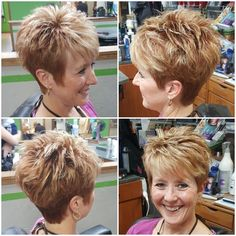 This is the hairstyle I want Short Spiky Hairstyles, Over 60 Hairstyles, Short Hairstyles For Women, Hairstyles Haircuts, Short Sassy Hair, Short Hair Styles, Very Short Hair, Short Hair Cuts For Women, Pixie Haircut
