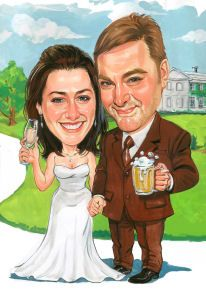 I've talked about having a caricature artist at our wedding as the favor :) Id like that still