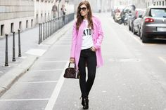 CihcLooks. The Pink Coat. -  street style - fall winter look