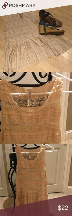 Spotted while shopping on Poshmark: Beautiful Free People lace tank! #poshmark #fashion #shopping #style #Free People #Tops