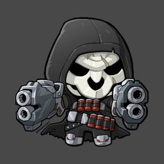 Lil Black-Robed Ghost by fallerion Chibi Overwatch, Overwatch Tattoo, Overwatch Drawings, Overwatch Fan Art, Cholo Art, Mobile Legend Wallpaper, Game Logo Design, Cute Kawaii Drawings, Lil Black