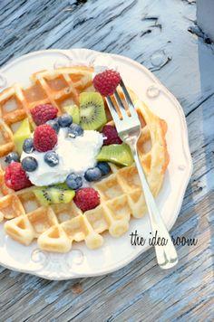 Belgium waffle recipe - Breakfast Recipe Idea | theidearoom.net