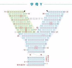 【A290】新妈咪手作_钩针幼儿益智早教玩具_字母款(优化版)_教程_新妈咪手作 - 微文库 Crochet Alphabet Letters, Crochet Letters Pattern, 3d Alphabet, Letter Patterns, Crochet Flowers, Crochet Lace, Free Crochet, Knitting Patterns, Crochet Patterns