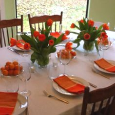 thanksgiving table set with all of Grandma Frances\' silver and china ...