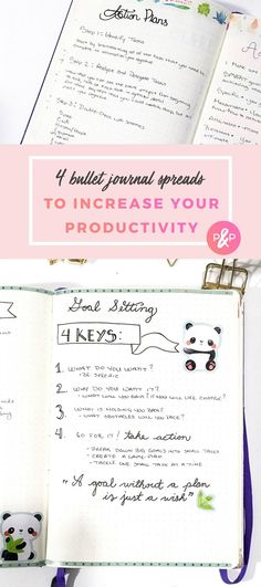4 Bullet Journal Spreads to Increase Your Productivity