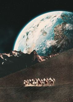 The Nomad Journey. Surreal Mixed Media Collage Art By Ayham Jabr.