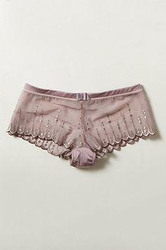 Pinstriped Lilac Boyshorts Encontrado en api.shopstyle.com Boyshorts in one of the best colors ever! #boyshorts #lilac