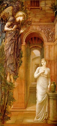 The Annunciation - Edward Burne-Jones, 1879 - I love this version of The Annunciation. Gabriel is truly angelic and mesmerizing.