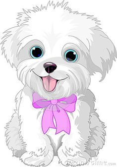 clipart of a cute bichon frise or maltese puppy dog sitting rh pinterest com free puppy clipart download free puppy clipart download