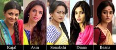 Who out of Kajal Aggarwal, Asin, Sonakshi Sinha, Diana Penty and Ileana D'Cruz is the hottest Desi Girl in Bollywood?