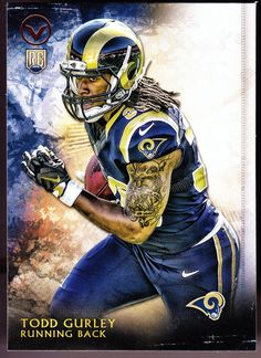 Beckett provides you latest pricing on 2015 Topps Valor Todd Gurley RC Football Art, Cowboys Football, Fantasy Football, Football Helmets, Football Players, Baseball, Todd Gurley, St Louis Rams, La Rams