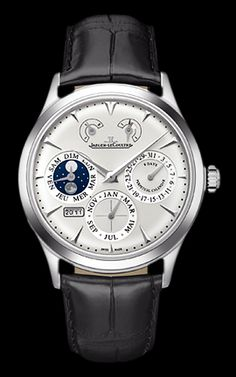 Jeager Le Coultre Master Eight Days Perpetual stainless steel Available at Cellini Jewelers