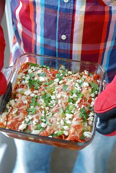 The Novice Chef » Buffalo Chicken Enchiladas