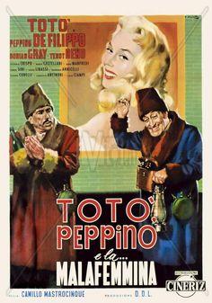 Totò Peppino e la Malfemmina 1956  Totò, Peppino De Filippo, Teddy Reno, Dorian Gray  Regia Camillo Mastrocinque