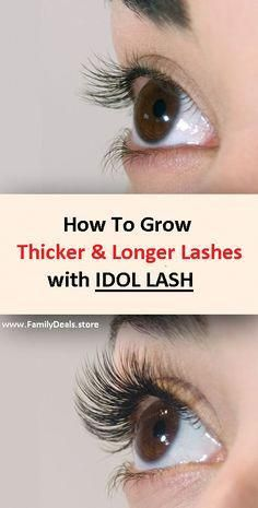 $39.95 - Meet Idol Lash, a growth serum specially formulated to give women longer, fuller lashes within two to four weeks of use. It's reasonably priced at $39,95 and relatively easy to use—just apply Idol Lash like you would your daily liquid eyeliner. #EverydayBeautyRoutine How To Grow Eyelashes, Longer Eyelashes, Long Lashes, Fake Eyelashes, Skin Firming Lotion, Mascara, Tighten Stomach, Brown Spots On Skin, Dark Spots