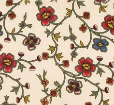 """One question I receive a lot is, """"where do I find appropriate 18th century floral prints?"""" I realize that it's taken *years* to source t..."""