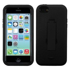 Symbiosis Defender Case for Apple iPhone 5/5S/5C - Black/Black