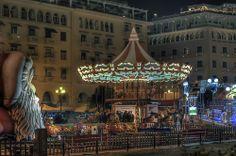 Christmas at Aristotelous Square, Thessaloniki, Greece Thessaloniki, Greece, Around The Worlds, Christmas, Noel, Greece Country, Xmas, Navidad, Natal