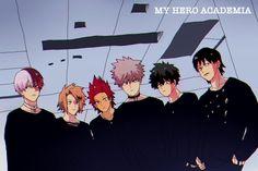 Boku no Hero Academia || Todoroki Shouto, Kaminari Denki, Kirishima Eijirou, Katsuki Bakugou, Midoriya Izuku, Hanta Sero.