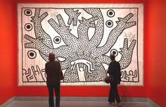 "Keith Harring painting. ""A Pop Shop for a New Generation"". New York Times. http://www.nytimes.com/2012/03/23/arts/design/keith-haring-1978-1982-at-brooklyn-museum.html?_r=1=1=1332598076-U28BIYor+hANsc13CVNfzg"