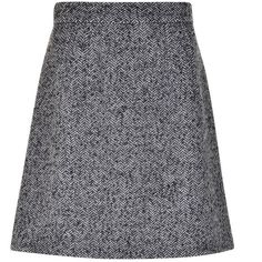 Dolce And Gabbana Tweed Mini Skirt (€220) ❤ liked on Polyvore featuring skirts, mini skirts, bottoms, chevron print skirt, tweed a line skirt, short mini skirts, slim skirt and short skirts