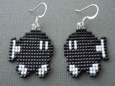 Handmade Bobomb Seed Bead Earrings by Pixelosis on Etsy, $25.00