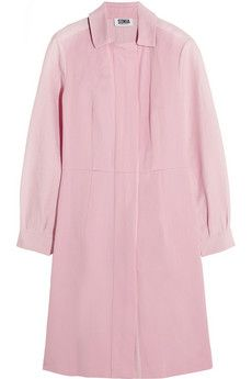 Sonia by Sonia Rykiel Twill-paneled cotton and linen-blend coat | NET-A-PORTER