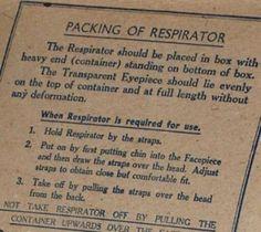 gas mask instructions WW2