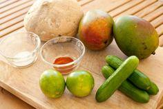 Mango jicama salad & jicamasticks