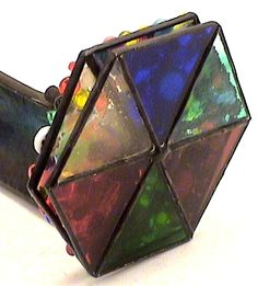 Vintage Kaleidoscopes, Stained Glass 2 Wheel By Artist Bob Ade.