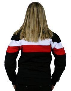 Damska bluza 'Chorągiew' - tył ---> Streetwear shop: odzież uliczna, kibicowska i patriotyczna / Przepnij Pina!