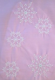 Set of Snowflake Embroidery Designs | GerisCustomEmbroidery - Needlecraft on ArtFire