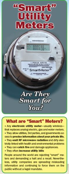 """BROCHERS: """"Are They Smart for You?"""" 3rd Edition Brochures Now Available  August 7th, 2014 http://stopsmartmeters.org/"""