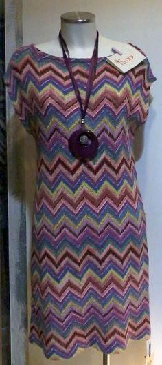 """collana """"made in To"""" abito in cotone collezione sartoria """"GRILLO TORINO"""" — presso Neo.chiC."""