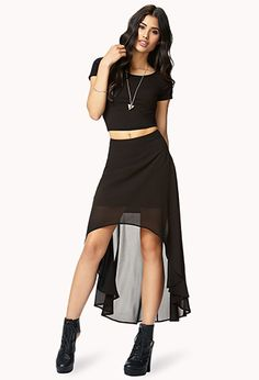 High-Low Chiffon Skirt | FOREVER 21 - 2062240983