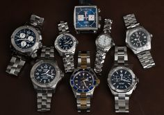 Today's update is live; with a 18k & Steel Submariner, 3 Breitlings, and 4 TAG Heuers at