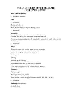Formal Business Letter Example   How To Write A Formal Business Letter  Example? Download This