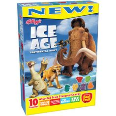 Kellogg's Ice Age 4 Fruit Snacks, 8 Ounce (Pack of Baked Donut Recipes, Dump Cake Recipes, Baked Donuts, Ice Age Birthday Party, Fruits For Kids, Kids Fruit, Ice Age 4, Apple Dump Cakes, Candy Drinks