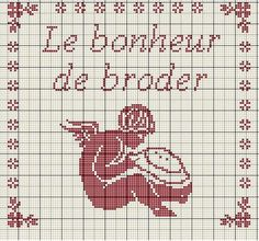 """Le bonheur de broder (""""the joy of embroidering,"""" or something like that)- Blog : http://broderiemimie44.canalblog.com/"""