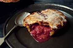 Rhubarb, ginger and amaretti pies