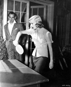 Ginger Rogers playing ping-pong :)