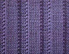 Raised Ribs I - Stitch Sample