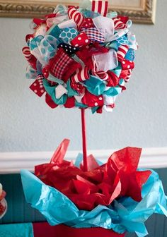 Dr Seuss Red and Turquoise - Lots of great Seuss Party Ideas