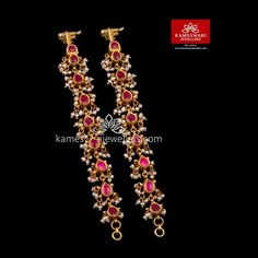 Buy Earrings, Jewelry Design Earrings, Gold Earrings Designs, Gold Jewellery Design, Earrings Online, Geek Jewelry, Jewelry Bracelets, Fashion Jewelry, Gold Temple Jewellery