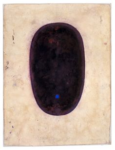 ANONYMOUS: tantric painting Shiva linga 1970 (Sanganer) unspecified paint on found paper 11.25 x 8.5""