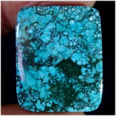 17.75cts. Brilliant TIBET TURQUOISE cushion CABOCHON Gemstones (jaipurgems2016) #jaipurgems2016