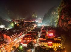 City Between Rocks, Yangshuo, China By Carsten Peter | National Geographic