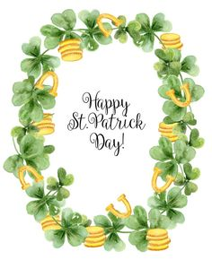 St Patricks Day Cards, Happy St Patricks Day, Saint Patricks, Watercolor Backgrounds, Watercolor Cards, Coin Crafts, Xmas Crafts, St Patricks Day Wallpaper, Handmade Cards
