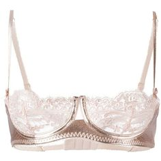 Loveday London Cropped Lace Bra (215 AUD) ❤ liked on Polyvore featuring  intimates 6a5e2d562